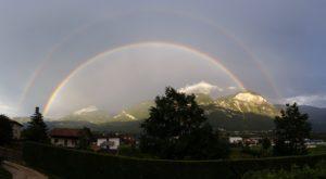 Regenbogen vom Rebhof aus fotografiert