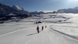 Skifahren auf der Seiser Alm